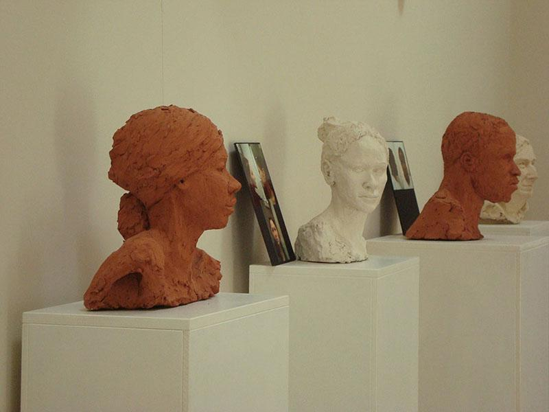 Exhibition view by Faces in Clay